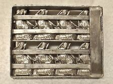 ANTIQUE HEAVY METAL HINGED GERMAN 8 BUNNY RABBIT CHOCOLATE MOLD CANDY EASTER