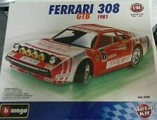 BURAGO 1:24 DIE CAST KIT IN METALLO AUTO FERRARI 308 GTB MADE IN ITALY ART 5548