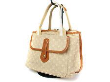 LOUIS VUITTON MARY KATE PM Monogram Canvas Beige Hand Bag LS14589L