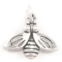 BUMBLE BEE Charm Honey Garden Insect animal Pendant Sterling Silver 925 .925