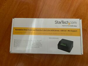 StarTech.com Standalone Hard Drive Eraser and Dock -For 2.5in/3.5in SATA SSD/HDD