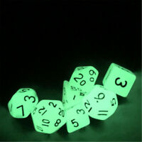 7X Acrylic Luminous Polyhedral Dice Set For TRPG MTG Dungeons & Dragons DND Game