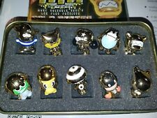 Gogos Crazy Bones 10 Figurine Set In Exclusive Gold Series Limited Edition Tin