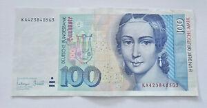 BRD Banknote 1 x 100 D Mark Geldschein