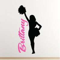 Personalized Cheerleader Wall Decal Removable Wall Lettering