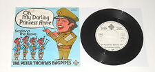 """The Peter Thomas Bagpipes - 7"""" PROMO Single - Oh, My Darling Princess Anne"""