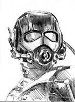 Ant-Man Sketch Card Drawing by Jeff Ward