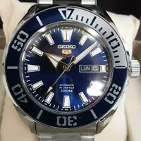 Seiko 5 Sports SRPC51K1 Day Date 24 Jewels 4R36-06R0 SS Automatic Mens Watch