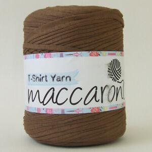 T-SHIRT YARN Shiny Brown New Large Ball Cotton Knit Crochet Weave 130m