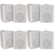 "8x 120w White Wandmontage Stereo Lautsprecher –6.5"" 8 Ohm – Premium Home Audio Musik"
