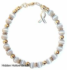 Grey - (Brain Cancer) Cancer Awareness Wire Bracelet 7 3/4 inches, packaged