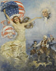 Howard Chandler Christy Father Of His Country Canvas Print 16 x 20    #3990
