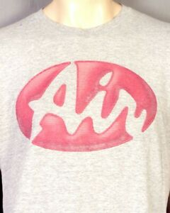 vintage 90s 00s Y2K Nike Air Spell Out Logo T-Shirt Center Swoosh USA made M
