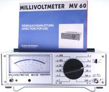Grundig MV-60 analog AC Millivoltmeter NF/HF Voltmeter geprüft