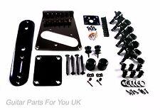 Telecaster Full body + Neck hardware kit Black vintage 6 saddle single coil