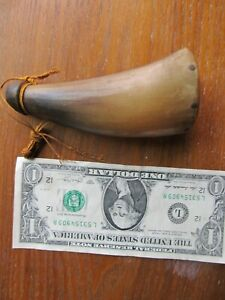 Lovely Tiny Antique REVOLUTIONARY WAR PRIMING POWDER HORN, Musket, Rifle Militia