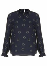 Hobbs Spotted Clarice Blouse Blouse Long Sleeve