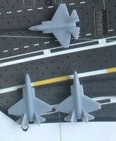 3x 1:700 USA Flugzeug F-35C mit Wasserabziehbilder Flugzeugträger
