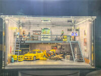 Pre-order 1:64 Diorama Double deck Garage Display Cabinet assemble