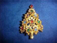 Wonderful Vintage EISENBERG Christmas Tree Pin Brooch VERY NICE!