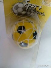 CENT Yellow Rubber football Hanging Car/home/office decorative Air Freshener