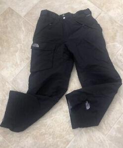 Men's The North Face HyVent Insulated Ski Snowboard Snow Pants Black Size Medium
