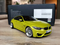 BMW M4 F82 Coupe Austin Yellow BBS Le Mans Echtalu Resin Umbau 1:18 Paragon OVP
