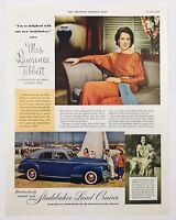 1940 Advertising Studebaker Land Cruiser Mrs. Lawrence Tibbett Opera Wife Ad