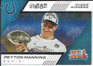 Peyton Manning Indianapolis Colts 2015 Panini Clear Vision Football Clear Winner