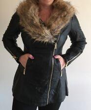Gemma Fur Neck Leatherette Jacket