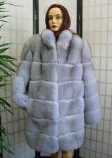 BRAND NEW NORWEGIAN BLUE SHEARED FOX FUR COAT JACKET WOMEN WOMAN