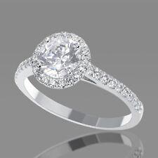 BLACK FRIDAY 1 CT ROUND DIAMOND ENGAGEMENT RING F/SI 14K WHITE GOLD ENHANCED