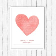 Personalised Song Words Heart Lyrics Print - Wedding gift or Anniversary Gift!