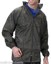Waterproof Jacket Rain Coat Mens Womens Adults Ladies Walking Fishing Packaway