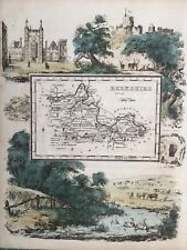 1845 Antique map - Berkshire - from Reuben's Rambles. Rare