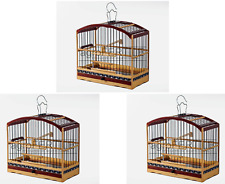 Kit of 3 Special Wooden Transportation Cage for coleiro and small birds
