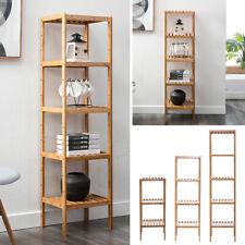 3/4/5 Layer Ladder Plant Flower Display Stand Bamboo Wood Bookshelf Storage Unit
