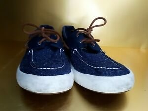 Sperry Top Sider Mens 13 M Blue Denim Boat Shoes Slip On Loafers STS16442