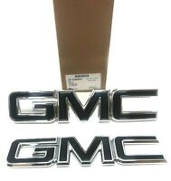 2015-2019 GMC Canyon Front and Rear Emblem Set Black/Chrome OEM 84380554