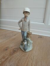 Lladro NAO Boy With Dog - Affectionate Pup - Immaculate Condition
