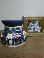 Yankee Candle Electric Wax Potpourri Burner, Snow Snowman, Xmas Orig Box, Tested