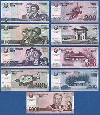 KOREA Set  9 Banknoten (2013) Commemorative  UNC  P.CS9-CS17