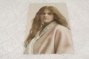 VINTAGE POSTCARD HAND COLOURED R/P MISS GLADYS COOPER 1914