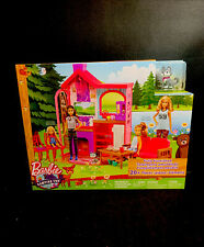 Barbie Camping Fun PlaySet With Barbie Cabin, Furniture, Puppy, And Accessories