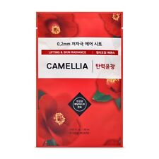 ETUDE HOUSE 0.2 Therapy Air Camellia Oil Lifting Radiance Facial Mask Pack 3pcs