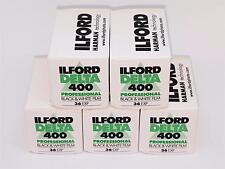 5x rolls ILFORD DELTA 400 , ISO 400 ,B&W NEGATIVE Film 35mm FRESH