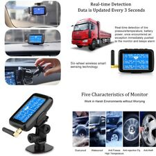 Wireless LCD TPMS Tire Pressure Monitor System + 6 External Sensors Bar/PSI -NEW