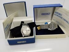 2 SEIKO'S 1-5 &,1 DX 25 JEWELS STAINLESS AUTOMATIC VINTAGE WATCHES,& BOXES RARE