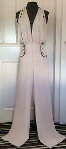 Designer Arrogant Cat Cream Halterneck Trouser Suit Size 8 Wedding Party Evening