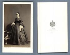 Ken, Paris, portrait de femme CDV vintage albumen carte de visite  Tirage albu